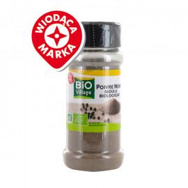 Ekologiczny pieprz czarny mielony. Produkt rolnictwa ekologicznego.