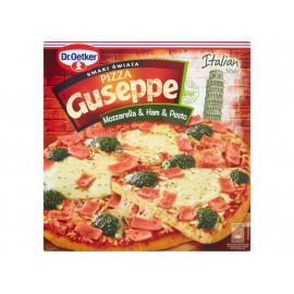 Dr. Oetker Guseppe Smaki Świata Pizza z serem mozzarella szynką i sosem pesto 395 g