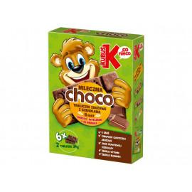 Kubuś Choco Ciasteczka zbożowe z czekoladą 192 g (6 x 2 sztuki)