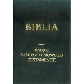 BIBLIA to jest  KSIĘGI  STAREGO I NOWEGO TESTAMENTU wg. J. Wujka