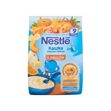 Nestlé Kaszka mleczno-ryżowa 5 owoców po 9 miesiącu 230 g