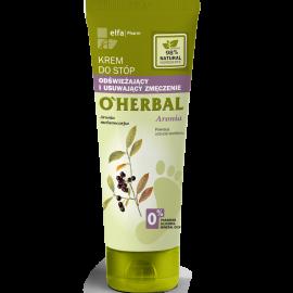 O'Herbal, odświeżający krem do stóp usuwający zmęczenie z ekstraktem z aronii 75ml