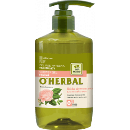 O'Herbal, żel pod prysznic, tonizujący Róża damasceńska 750