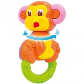 CLEMENTONIO Grzechotka małpka 2 w 1