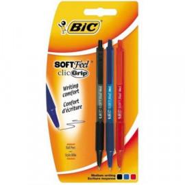 BIC Długopis Soft Feel, 3szt.