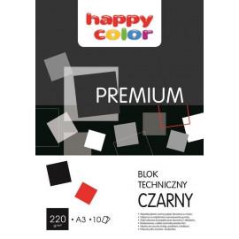HAPPY COLOR Blok techniczny Premium czarny A3 10 arkuszy 10 sztuk