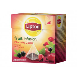 Lipton Fruit Infusion Charming Cassis Rosehip & Blackcurrant Herbatka owocowa 40 g (20 torebek)