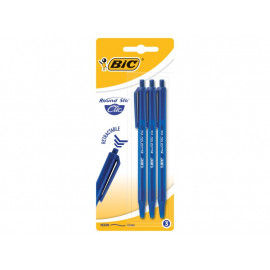 BiC Round Stic Clic Długopis niebieski 3 sztuki