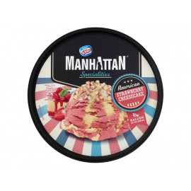 Manhattan Specialities Lody truskawkowe i lody z serkiem twarogowym z ciasteczkami 946 ml