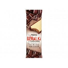 Góralki z czekoladą Wafelki z kremowym nadzieniem w polewie kakaowej 50 g