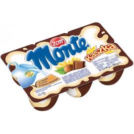Zott Monte Deser mleczny z kaszą manną,czekoladą i orzechami 6x55 g, 330 g