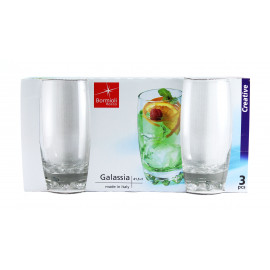 GALASSIA Komplet 3 szklanek long drink 420 ml