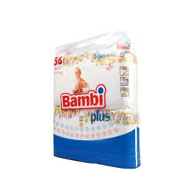 BAMBI PLUS Pieluchy 4 maxi 8-19 kg, 56 szt