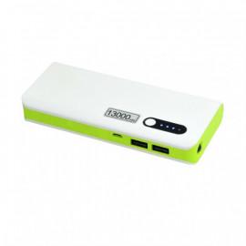 MSONIC Powerbank 1300 mAh, biało-zielony