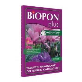 BIOPON PLUS tabletki nawozowe z witaminą do roślin kwitnących20SZT
