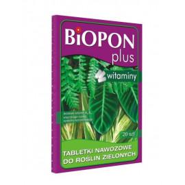 BIOPON PLUS tabletki nawozowe z witaminą do roślin zielonych