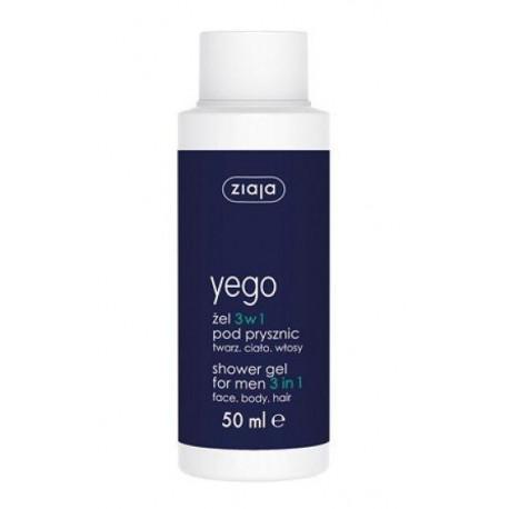 Ziaja - Yego - Żel pod prysznic dla mężczyzn 3 W 1 do ciała, twarzy i włosów MINI 50ml