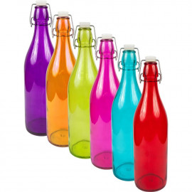 Biowin Butelka szklana  1l , mix kolorów