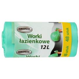 GROSIK Worki łazienkowe 12l, 48 szt. zielone