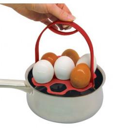 FACKELMANN Uchwyt do gotowania i podawania jajek