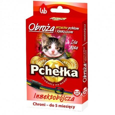 PCHEŁKA Obroża 20-30cm dla kota