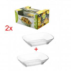 GURALLAR ARTCRAFT Komplet dwóch szklanych salaterek