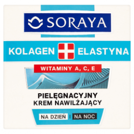 Soraya Kolagen + Elastyna Pielęgnacyjny krem nawilżający na dzień i na noc 50 ml