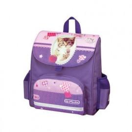 Tornister mini softbag Pretty Pets Kot fioletowy