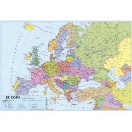 KRESKA SZKOLNY PODKŁAD NA BIURKO A2 MAPA EUROPY