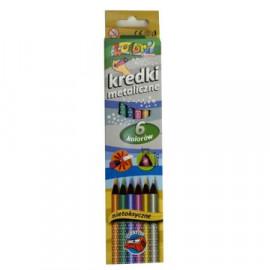 PENMATE Kredki Premium Kolori metaliczne 6 kolorów