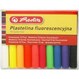 Herlitz Plastelina Fluo 10 kolorów