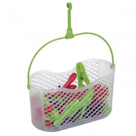 Koszyk plastikowy FUN + 30 sztuk spinaczy do bielizny