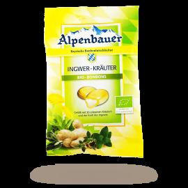 ALPENBAUER BIO Cukierki z nadzieniem imbirowo-ziołowym