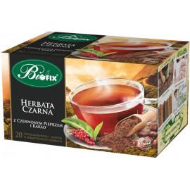 BI FIX Czarna z czerwonym pieprzem i kakao Herbata ekspresowa20TOREBEK
