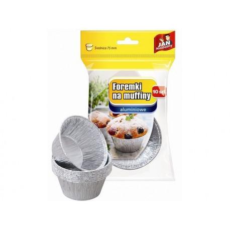 Jan Niezbędny Foremki aluminiowe na muffiny, 10 szt.