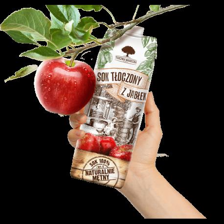 Tłocznia Warecka Sok tłoczony z jabłek  i marchwi 1 l