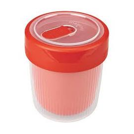 Kubek termiczny plastikowy MEMORY CZERWONY 500 ml
