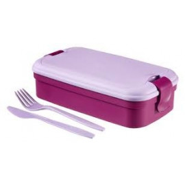 Curver Lunch & Go Lunch Box ze sztućcami  fioletowy