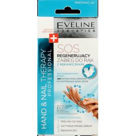 Eveline Hand Nail Therapy Professional - SOS regenerujący zabieg do rąk z rękawiczkami 2x7ml