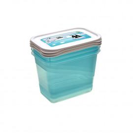 KEEEPER 3-Częściowy zestaw pojemników na żywność 1,25l