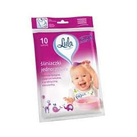 LULA BABY Śliniaczki jednorazowe 10 szt.