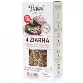 Bakal Mix Ziaren Do Wypieku Chleba Pełnoziarnistego Bez Mąki 4 Ziarna