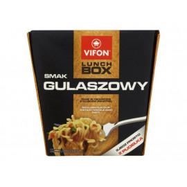 Vifon Lunch Box smak gulaszowy Danie błyskawiczne z kluskami pikantne 80 g