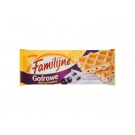 Familijne Gofrowe wafle cząstki z czarnej porzeczki i krem o smaku jogurtowym 160 g