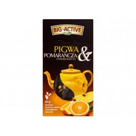 Big-Active Pigwa & Pomarańcza Liściasta herbata czarna z kawałkami owoców 80 g