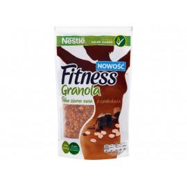 Nestlé Fitness Granola Pełne ziarno owsa z czekoladą Płatki śniadaniowe 300 g