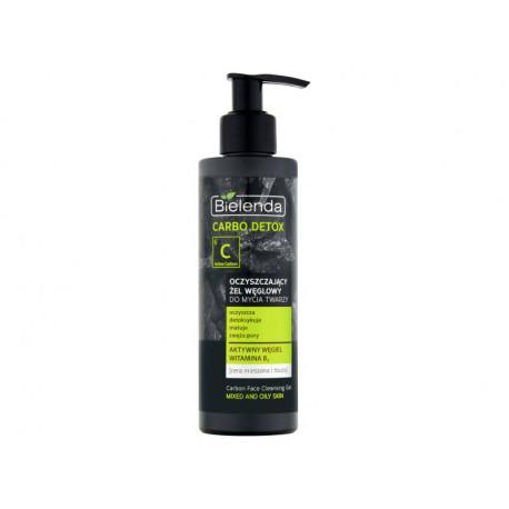 Bielenda Carbo Detox Oczyszczający żel węglowy do mycia twarzy cera mieszana i tłusta 195 g