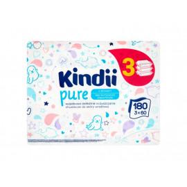 Kindii pure Sensitive Chusteczki dla niemowląt i dzieci 180 sztuk