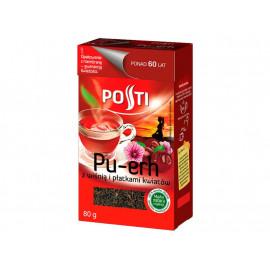 Posti Pu-erh z wiśnią i płatkami kwiatów Herbata czerwona liściasta 80 g