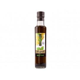 Wielkopolski Aromatyzowany olej rzepakowy z cząstkami bazylii 250 ml
